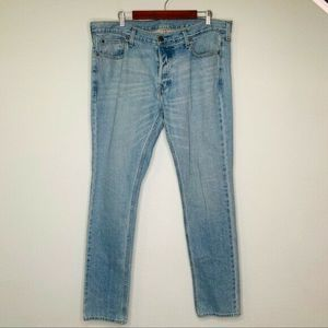 Mens Hollister Straight Button Fly Jeans 38x34